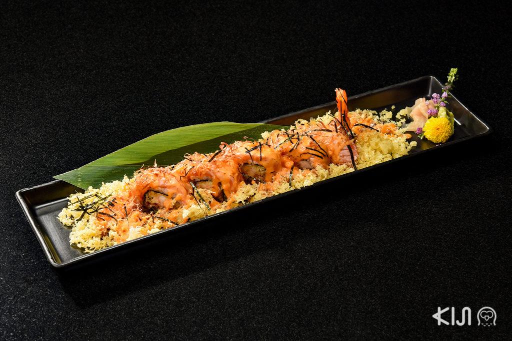 Salmon Unagi Ebi Tem Roll (390 บาท)