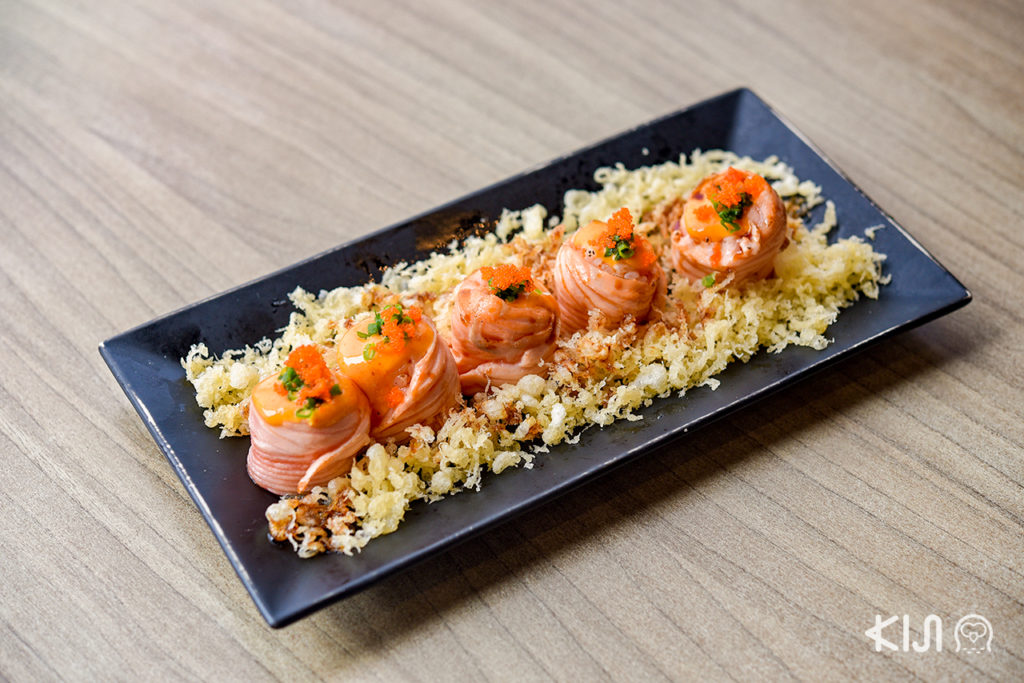 Salmon Lava Roll ซูชิแซลมอนลาวาโรล