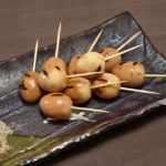 Grilled Simmered Quail Egg with Sesame and Shiso Salt copy