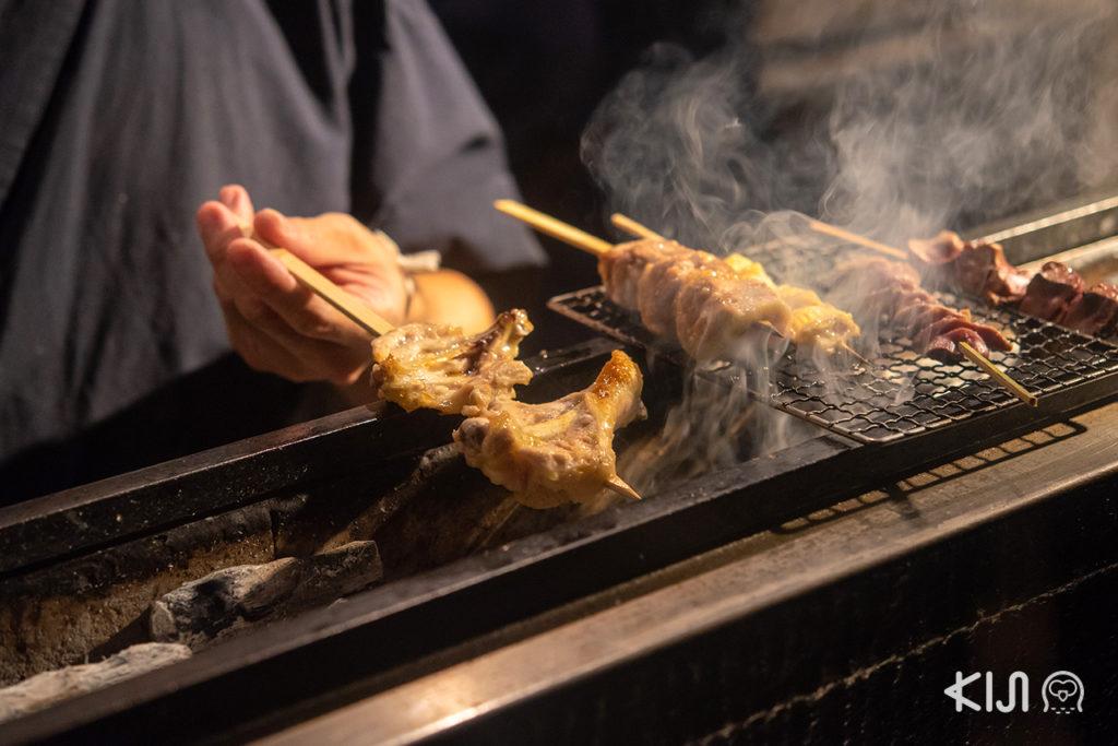 เมนูยากิโทริ จากร้าน Jidori Cuisine Ken