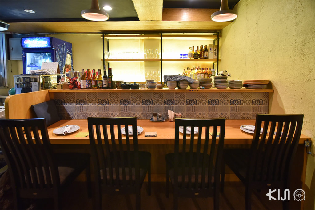 เคาท์เตอร์บาร์ร้าน Nikkuu Grill