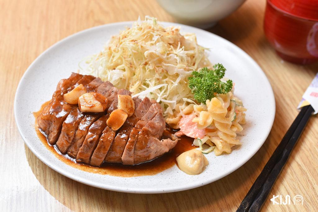 Kobe Tonteki Set จานเด่นที่ควรลองใน ร้านอาหารญี่ปุ่น ย่านธนิยะ