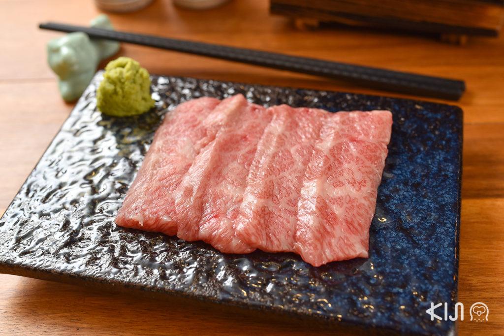 Gyukatsu Permpalung เนื้อส่วนคารูบิหรือเนื้อซี่โครงติดมันจากวัวไทย-วากิว