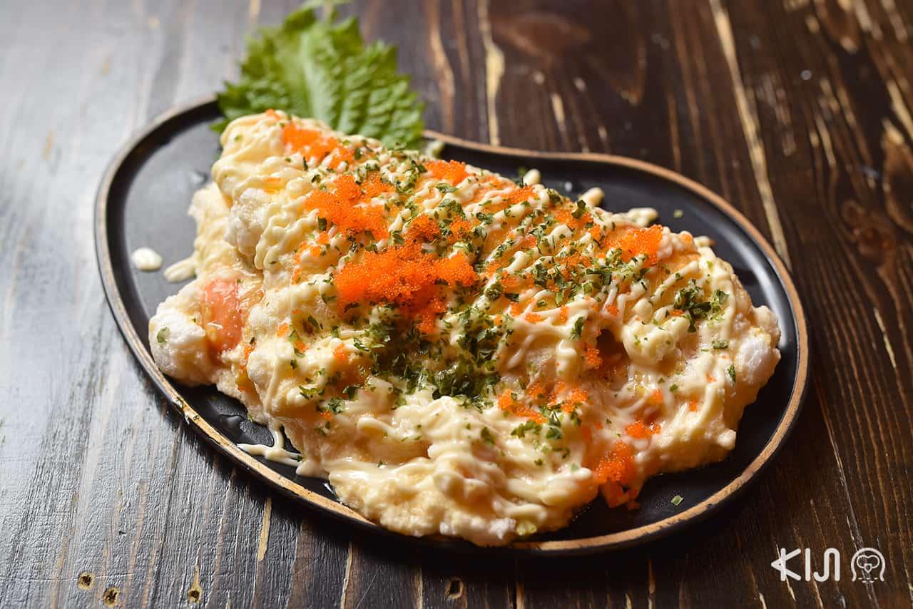 ร้าน อาหารญี่ปุ่น Aburi Yatai - Souffle Ebi Omelette