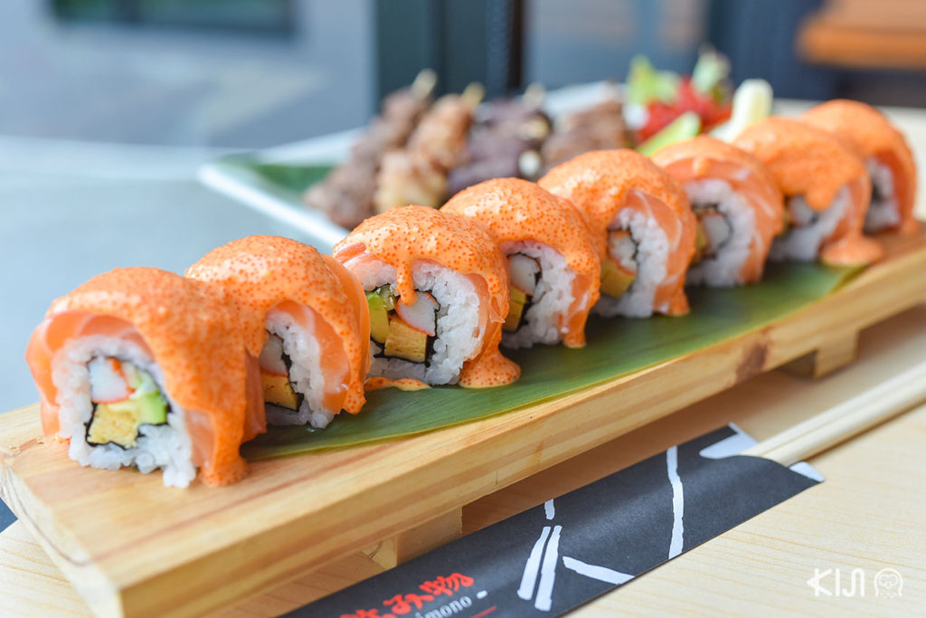 Nomimono Izakaya - Salmon Spicy Mentai Sauce Roll