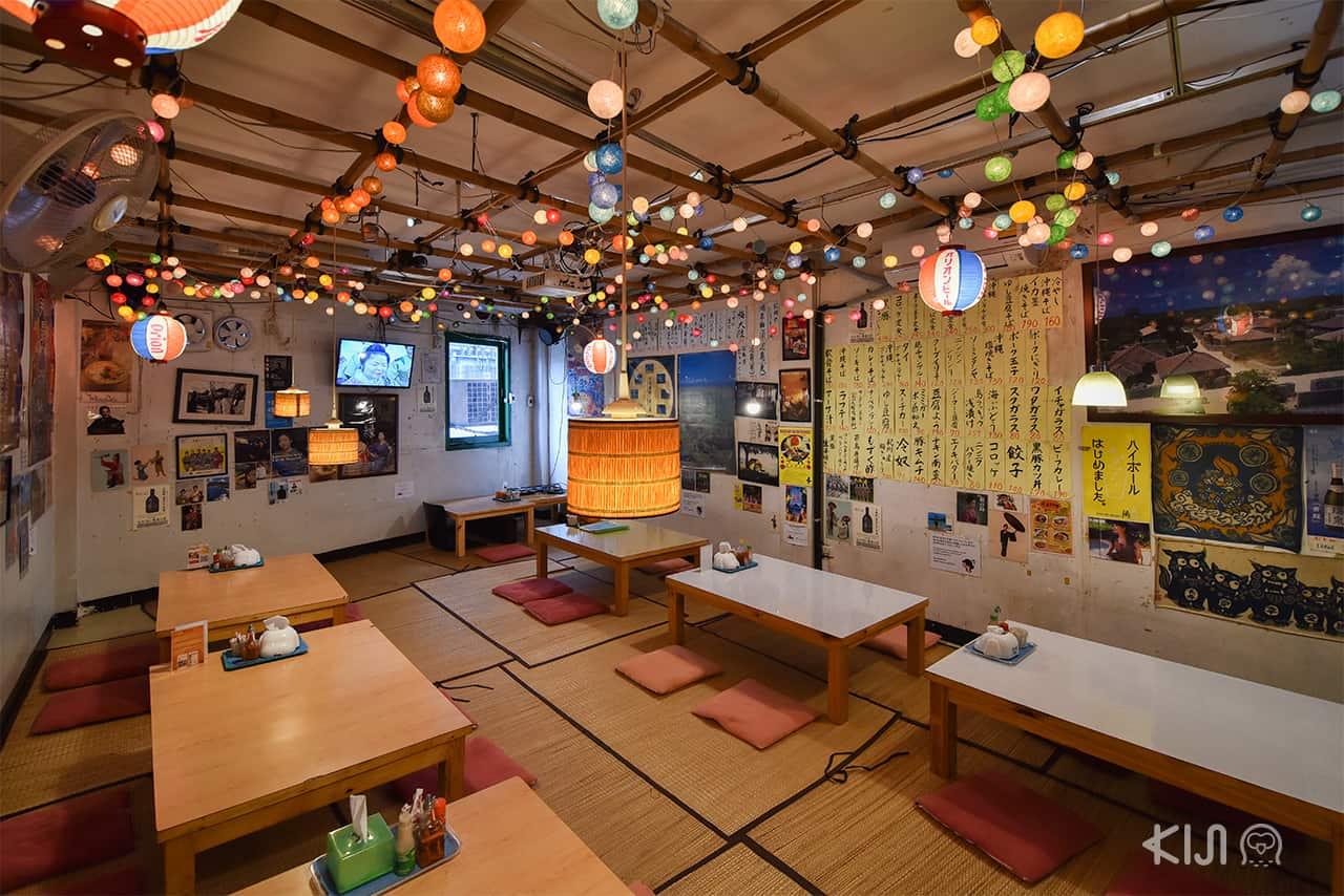 บรรยากาศภายในร้าน อาหารญี่ปุ่น Okinawa Kinjo