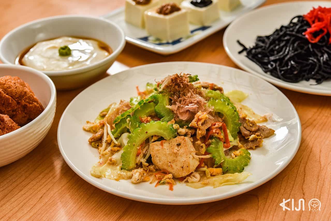 อาหารญี่ปุ่น ที่ Okinawa Kinjo - Goya Champuru Okinawa Style ผัดมะระสไตล์โอกินาว่า