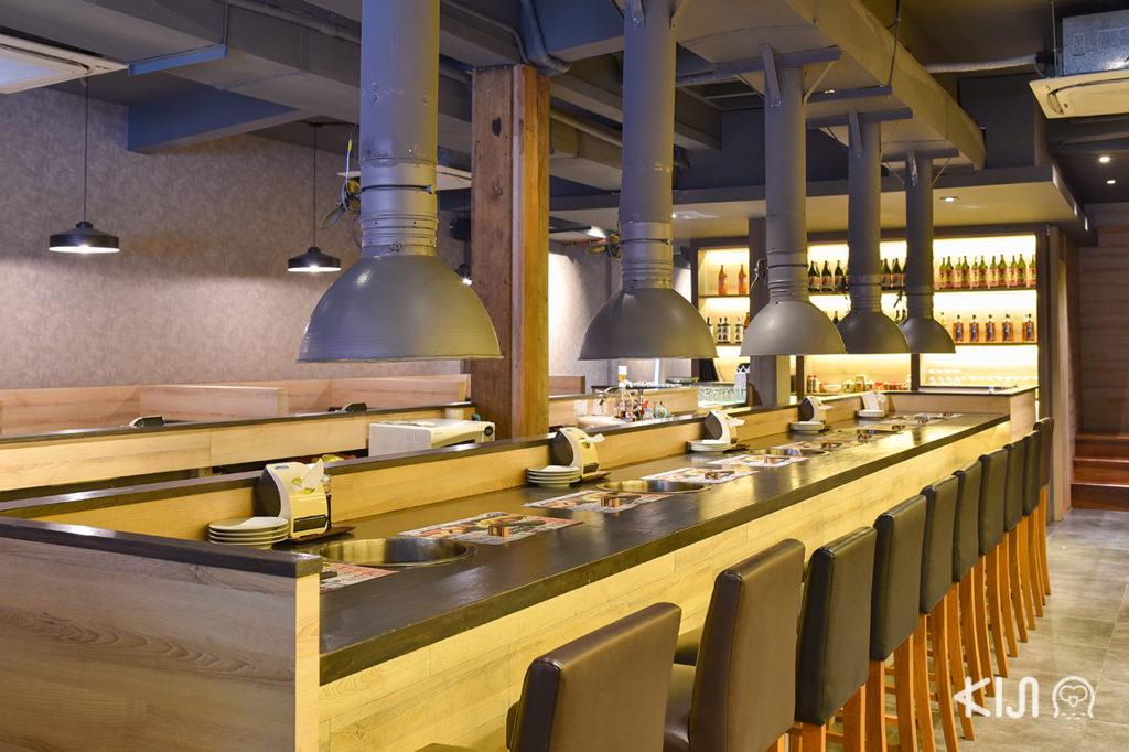 ที่นั่งสำหรับมาคนเดียวของร้าน Hokkaido Grill Yakiniku & Jingiskang EZOYA