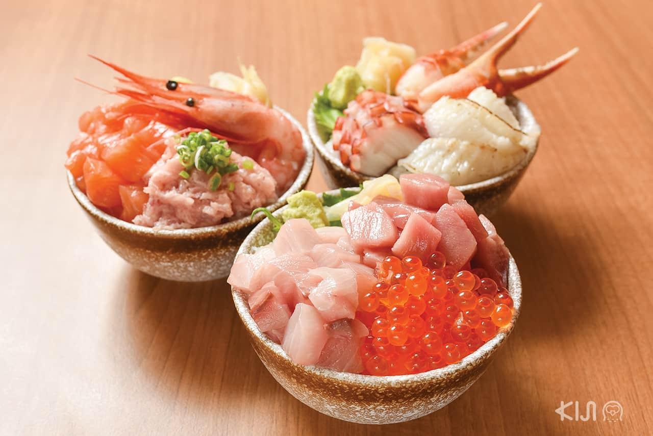ดงบุริ ข้าวหน้าปลาดิบ Nagiya