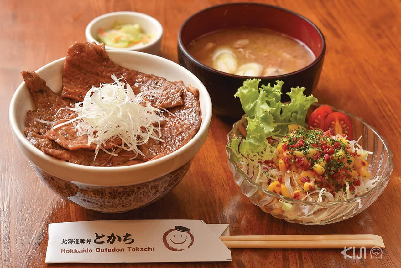 รีวิวร้าน Hokkaido Butadon Tokachi ข้าวหน้าหมู