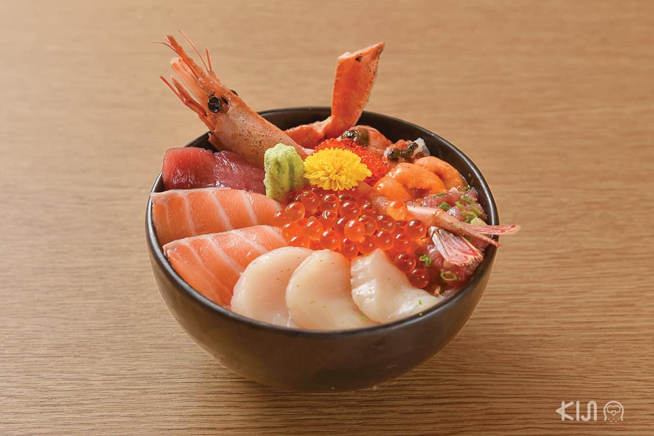 ดงบุริ - ไคเซ็นด้ง (Kaisendon : 海鮮丼)