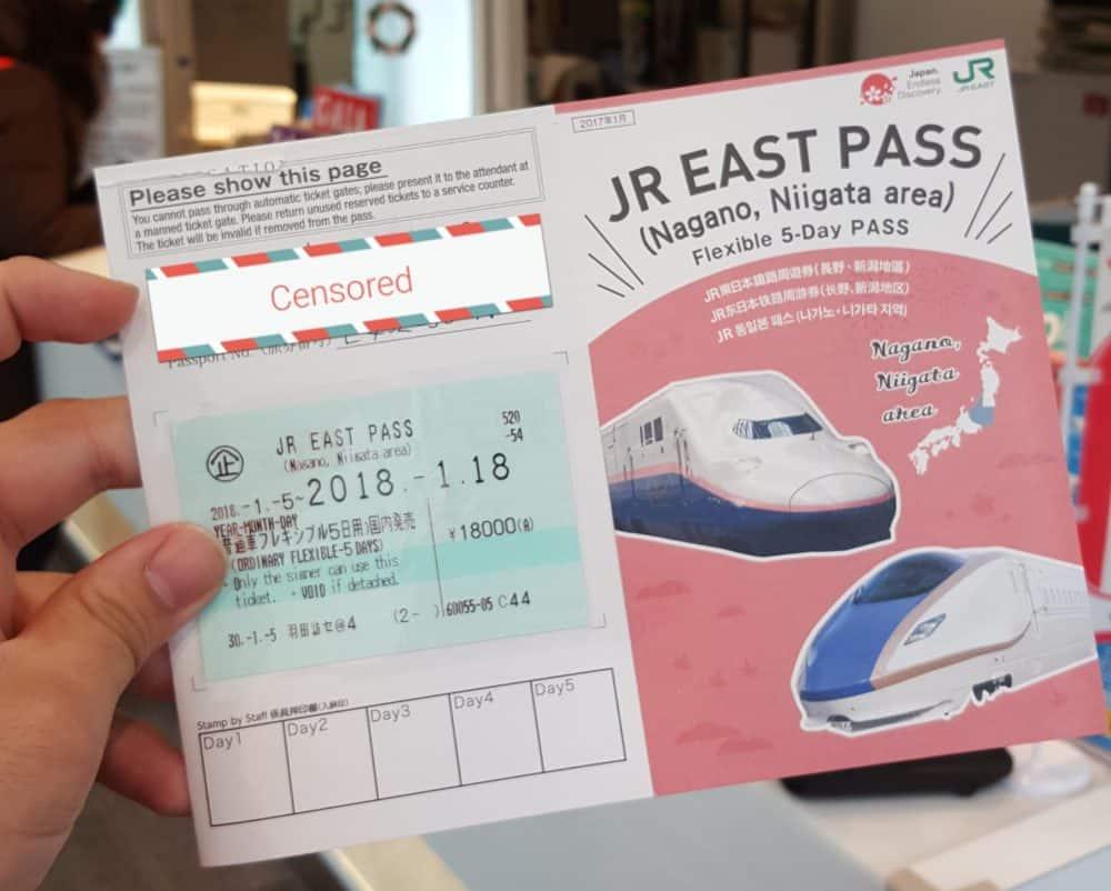 JR East Pass Nagano, Niigata Area