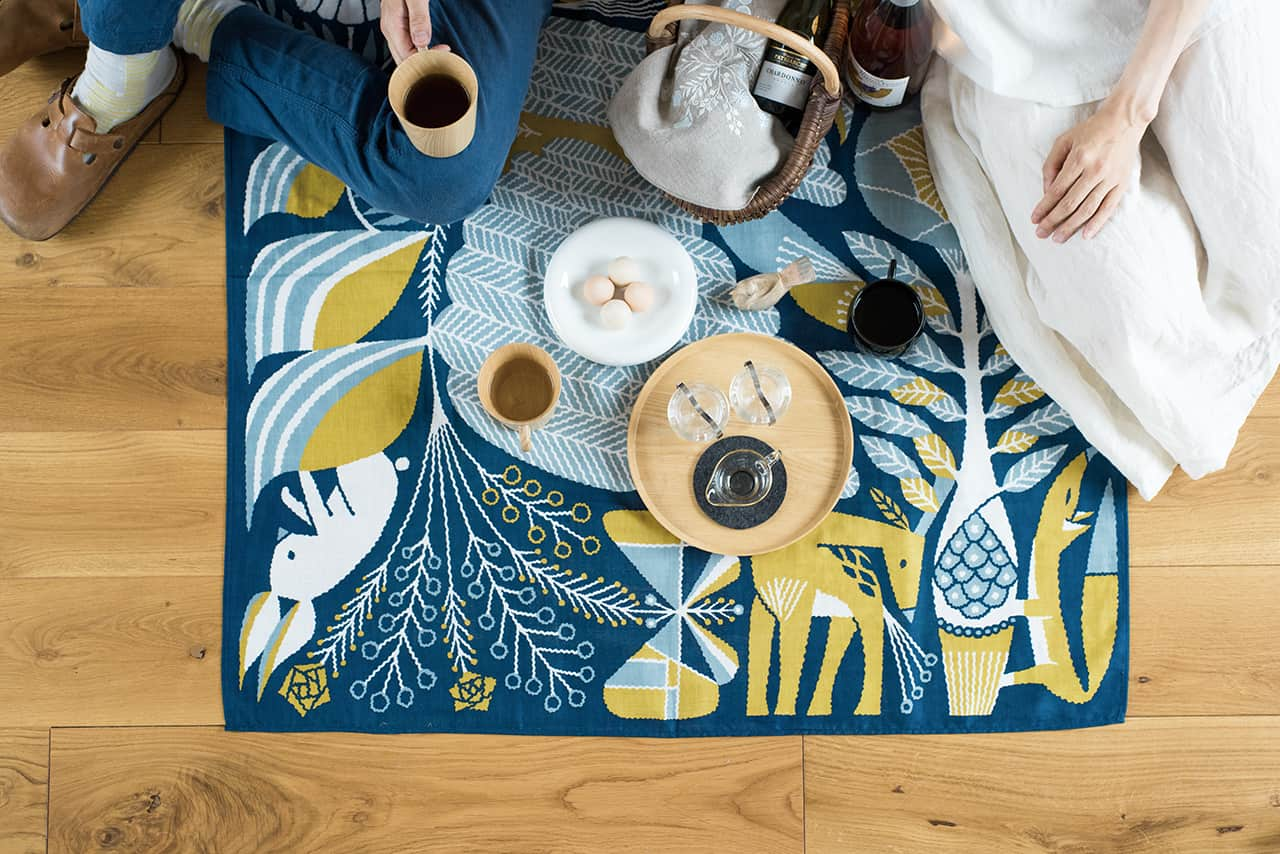 ผ้าที่ออกแบบโดย ฟุคุดะ โทชิยูกิ แบรนด์ TENP
