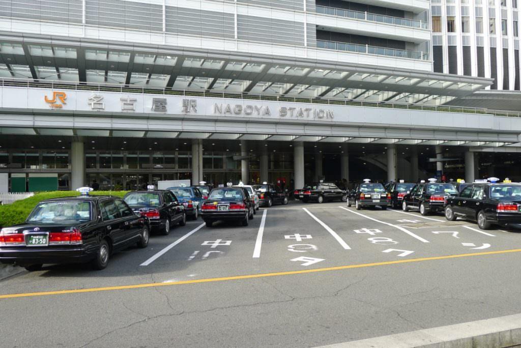 จุดจอด Taxi ญี่ปุ่น หน้าสถานี JR Nagoya Station