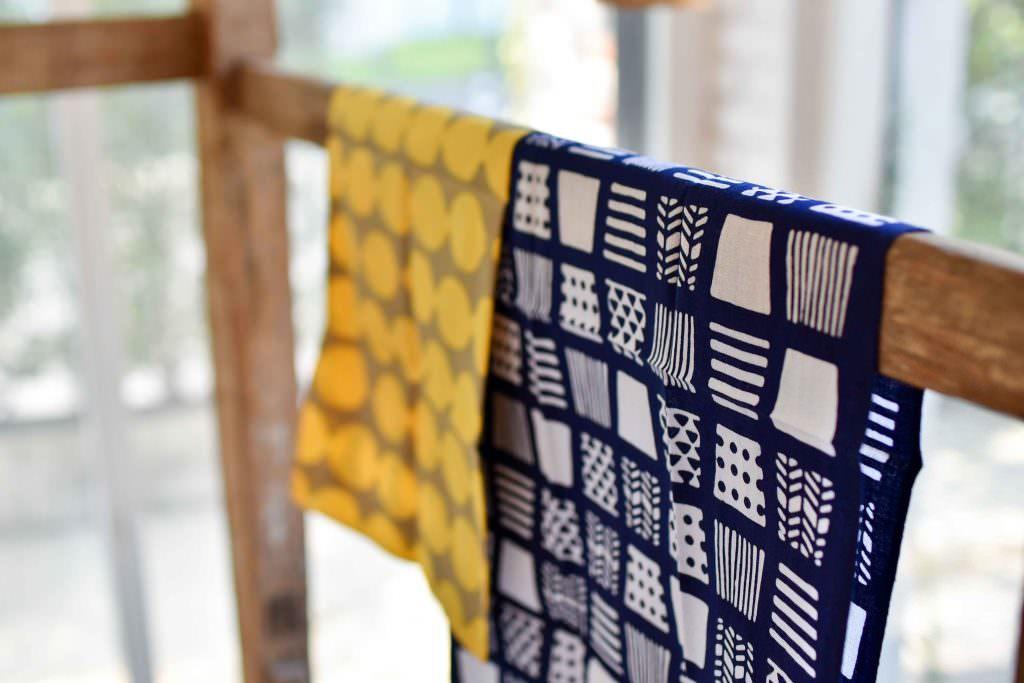 ผ้าลวดลายน่ารักๆ ของร้านคะมะวะนุ (Kamawanu) ย่านอาซากุสะ (Asakusa)