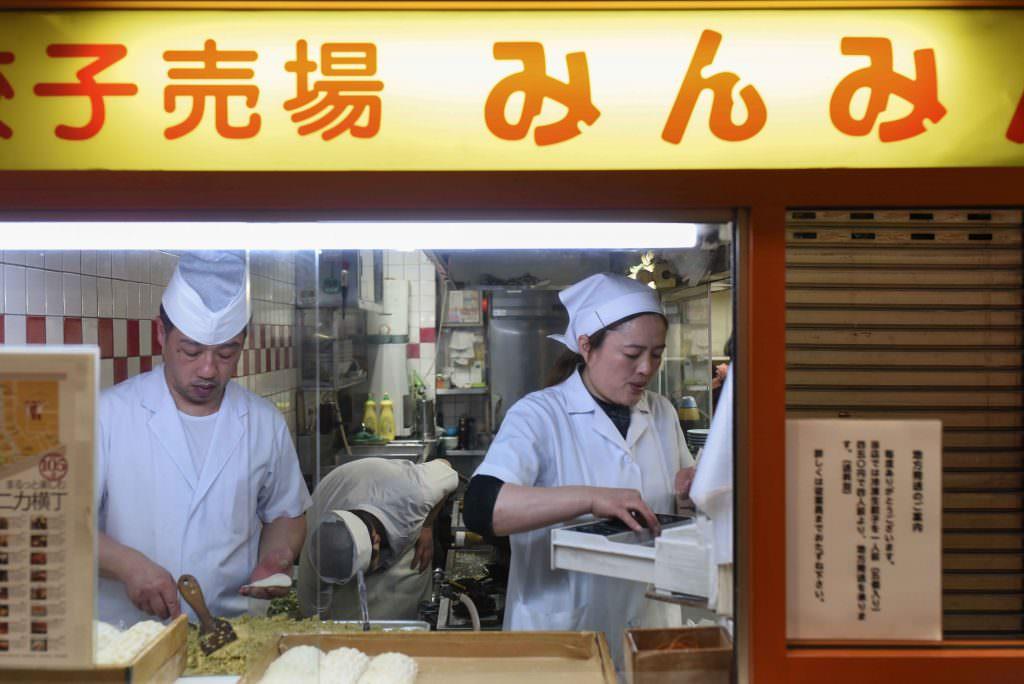 ที่ร้านมิม มิง (MIN MIN) ในย่านคิชิโจจิ (Kichijoji) เป็นแบบ Open kitchen
