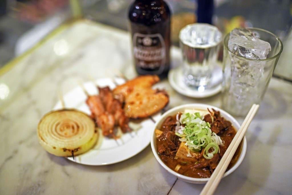 อาหารของร้านเท็ดจัง (Techan)ในย่าน คิชิโจจิ (Kichijoji)