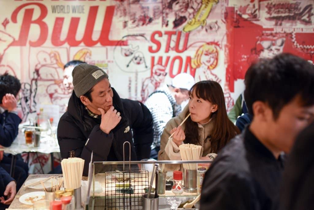 บรรยากาศภายในร้าน TECHANในย่าน คิชิโจจิ (Kichijoji)