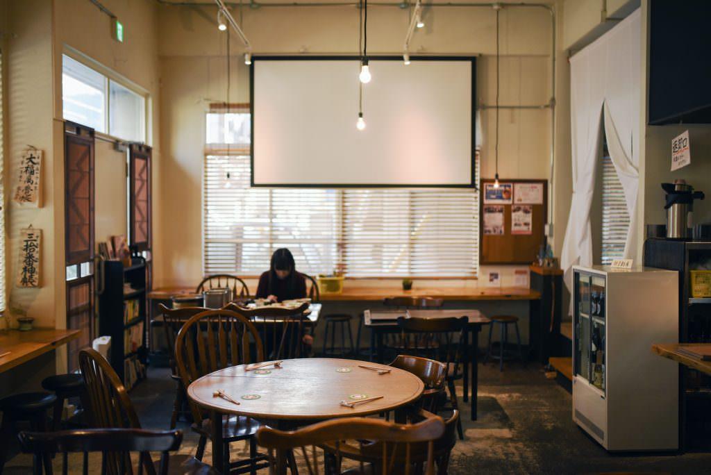 บรรยากาศภายในร้าน Yuwaeru ในย่านคุระมะเอะ (Kuramae)