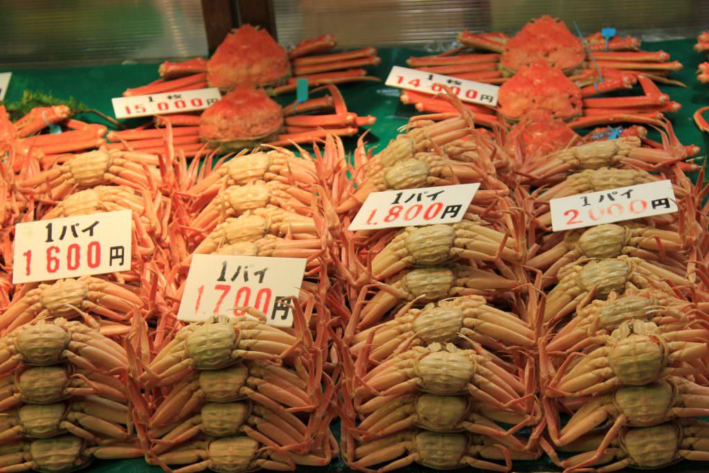 ปูสดจาก Omicho Market