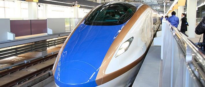 Hokuriku Shinkansen จากเกียวตรงยาวมาประมาณแค่ 2 ชม.ครึ่ง