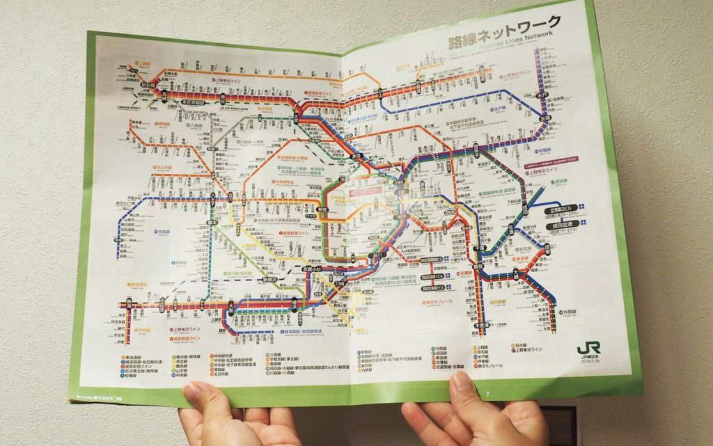 แผนที่เส้นทางเดินรถไฟในประเทศญี่ปุ่น