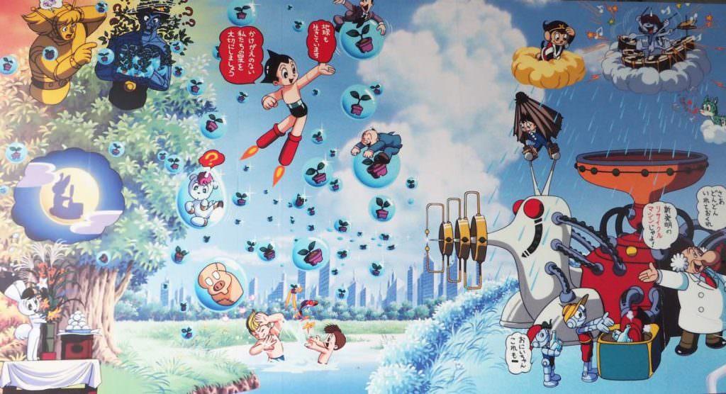 สถานีทะกะดะโนะบะบะ ของรถไฟสาย JR Yamanote (TOKYO) ใช้เพลงการ์ตูนเรื่อง Astro Boy หรือเจ้าหนูปรมาณ/เจ้าหนูอะตอม มาเป็นเพลงประจำสถานี