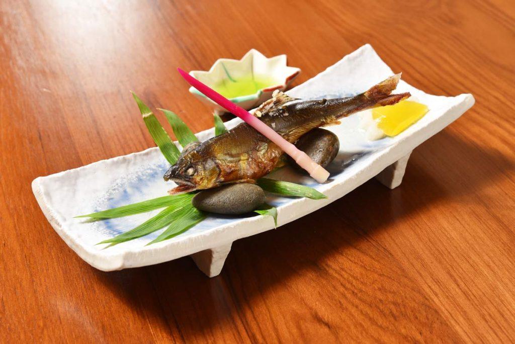ปลาอะยุ (Ayu) ที่ร้าน Tensui