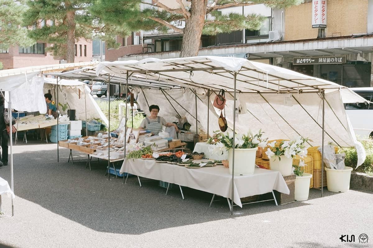 ตลาดเช้าจินยะมาเอะ ตลาดเช้า Takayama