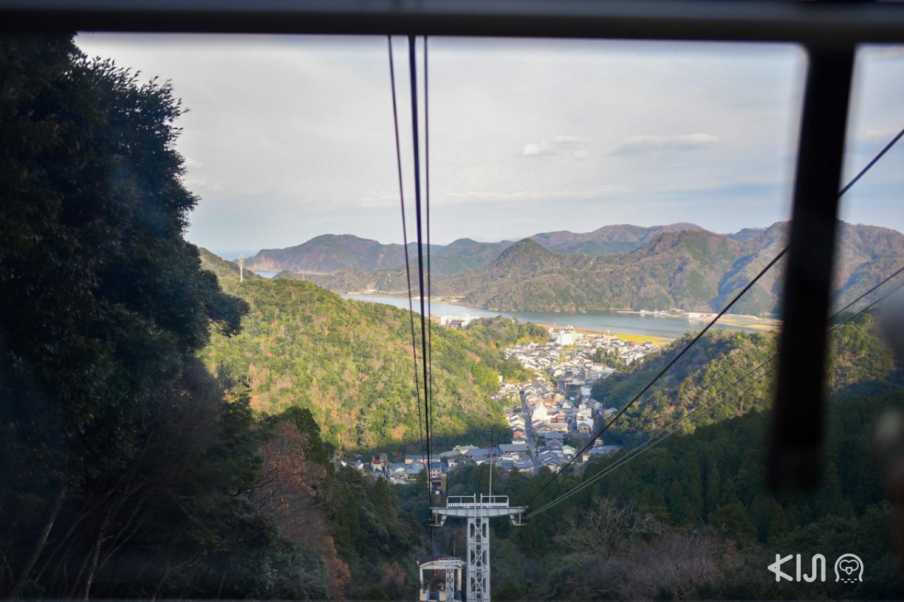 วิวเมือง คิโนะซากิ (Kinosaki) ที่มองออกมาจาก Ropeway Station