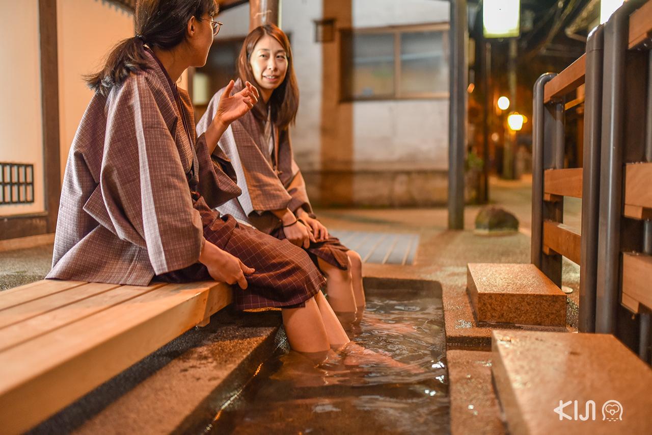 Foot Bath at Nishimuraya Honkan