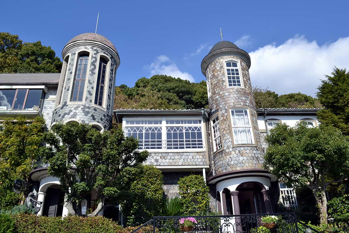 อาคารเก่าแก่ทรงยุโรป ที่ตั้งอยู่ในย่านคิตาโนะ (Kitano)
