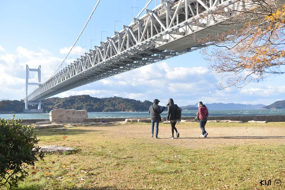 บรรยากาศรอบๆ สะพาน Seto Ohashi Bridge