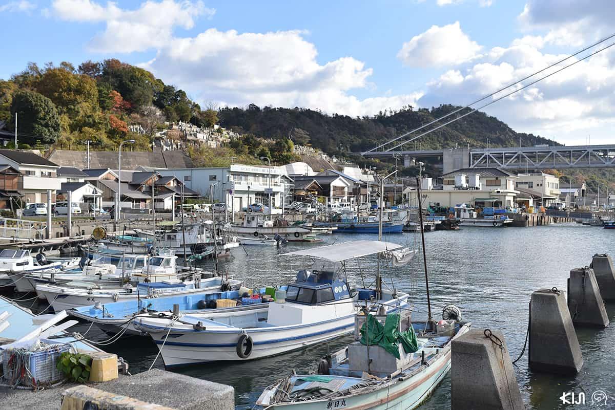 ย่านชิโมะซุย (Shimosui) หมู่บ้านชาวประมงที่อยู่ใกล้ๆ กับโรงแรม