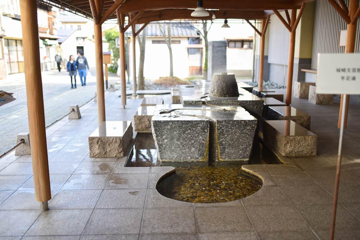 Free Foot Bath at Kinosaki
