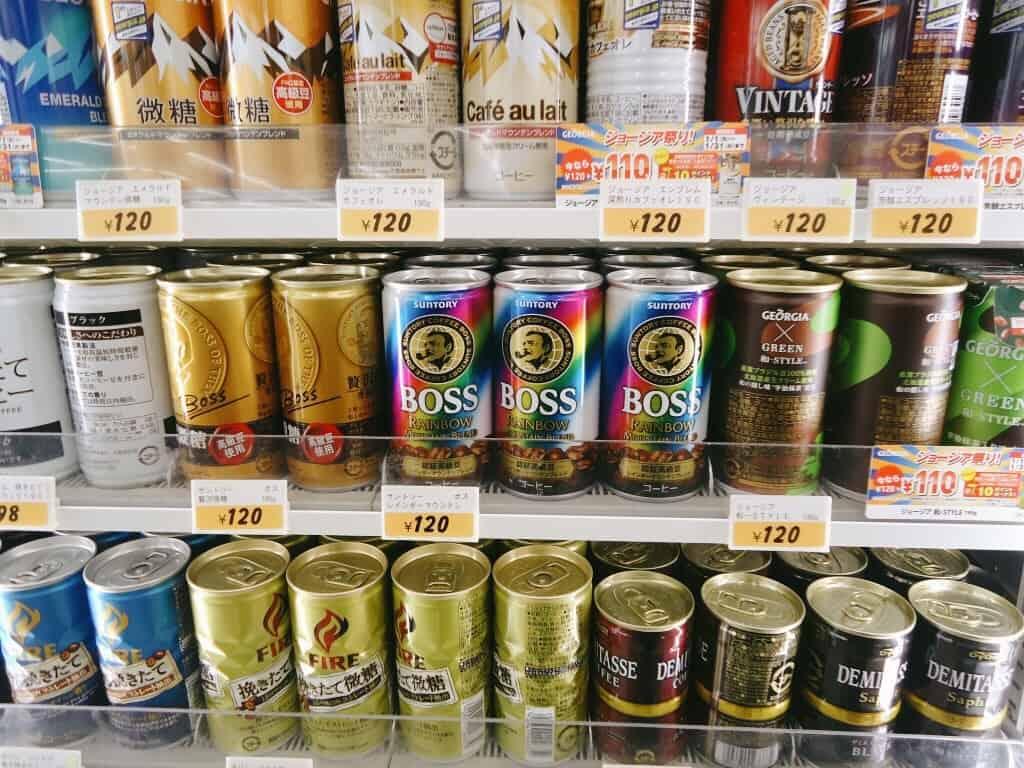 กาแฟกระป๋องมีราคาโดยทั่วไปอยู่ที่ประมาณ 100-120 เยน