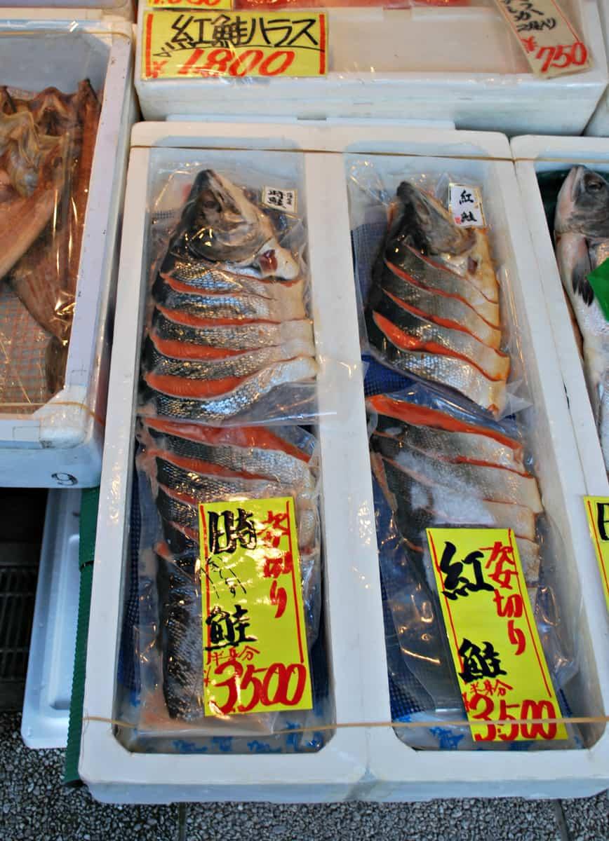 ปลาสดๆ จากตลาดปลานิโจ (Nijo Market)