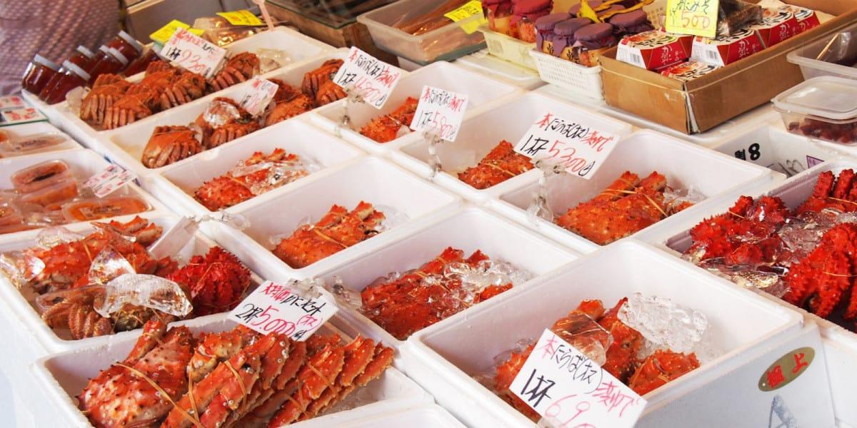 ปูสดๆ ที่ตลาดโจไก (Jogai Market)