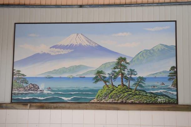 ภาพวาดฟูจิซังขนาดใหญ่ ที่ Takara-yu