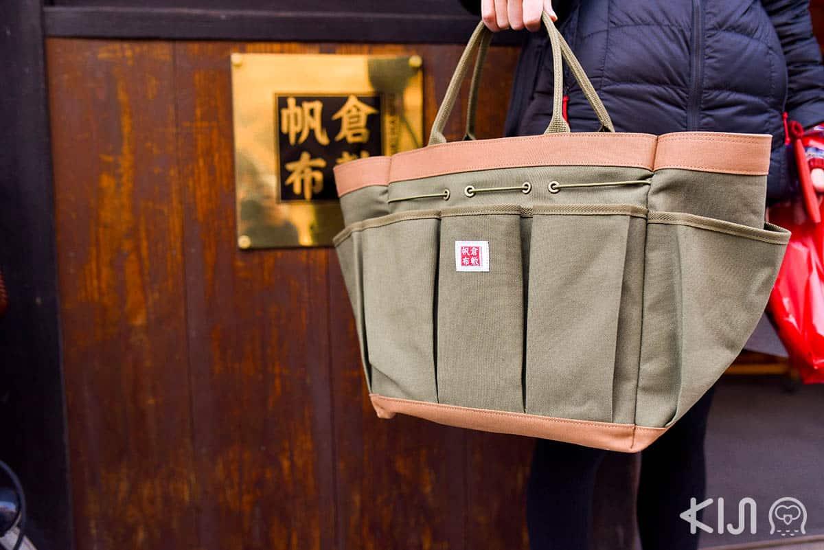 กระเป๋าผ้าแคนวาส จากร้านคุราชิกิ ฮันปุ (Kurashiki Hanpu)