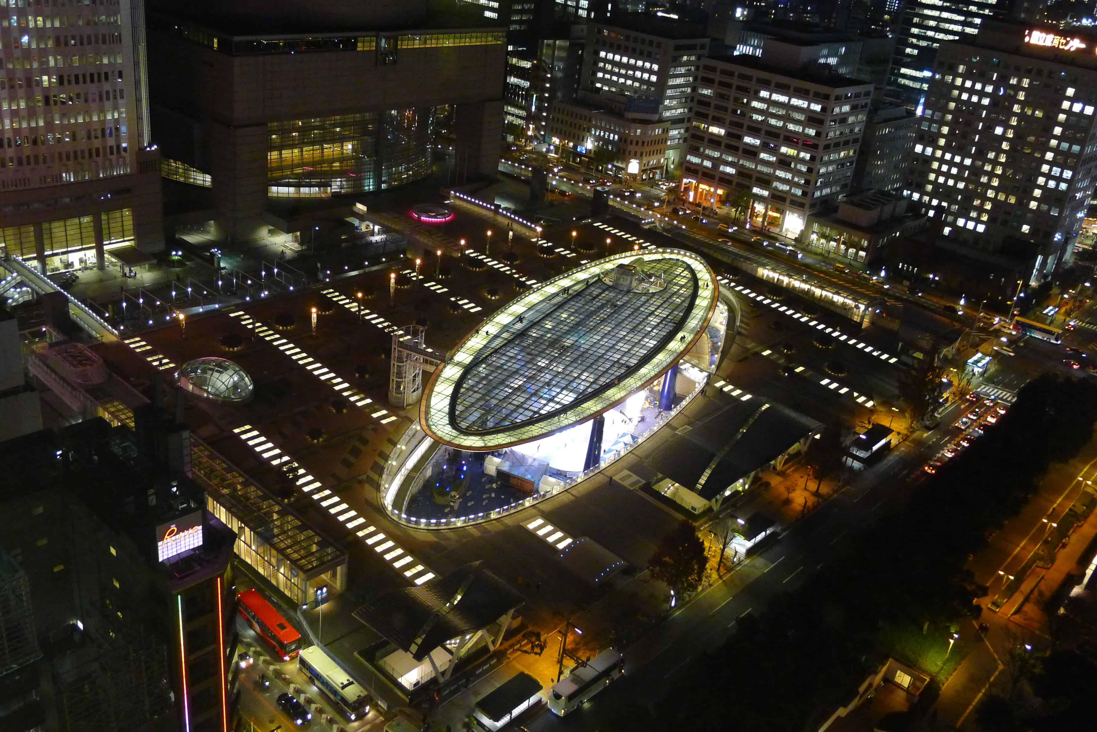 วิวที่มองลงมาจากด้านบน Nagoya TV Tower