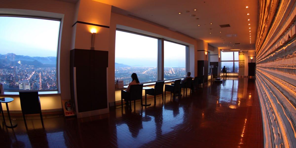 จุดนั่งชมวิวเพลินๆ ของ Sapporo JR Tower