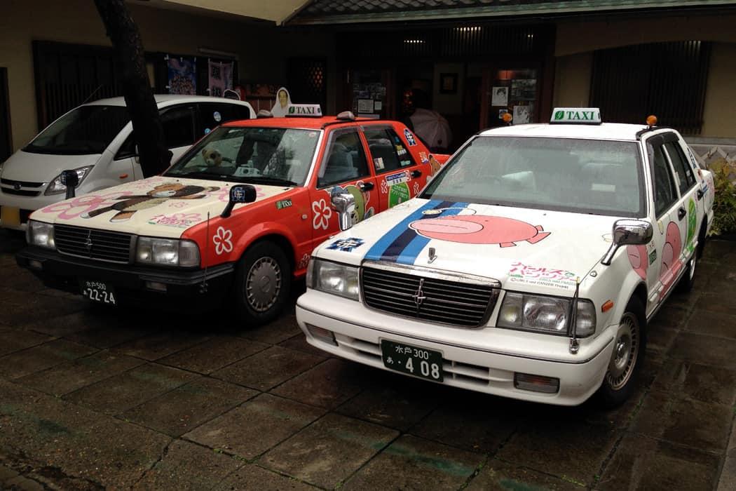 เมื่อถึงสถานี Oarai ให้เดินออกมาเรียกแท็กซี่ ใช้เวลาประมาณ 5 นาที 820 เยน บอกว่าไปลง Oarai Isosaki Jinja