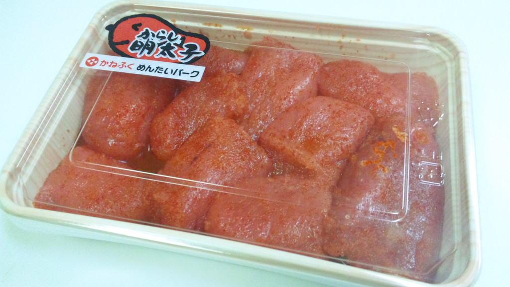 เมนไทโกะแบบเผ็ด (Karashi Mentaiko) สินค้าขายดีราคา 1,080 เยน หนัก 180 กรัม