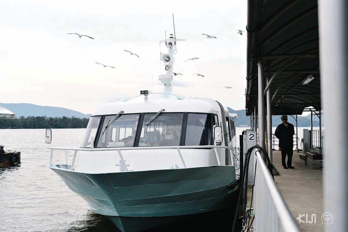 เรือโดยสารข้ามฟากระหว่างแผ่นดิน 2 ฝั่งของอามาโนะฮาชิดาเตะ