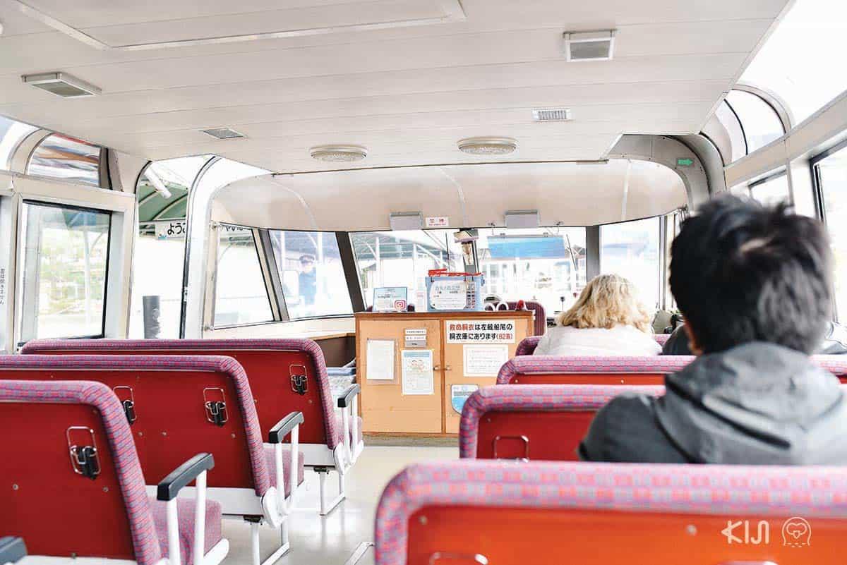 บรรยากาศภายในเรือโดยสารข้ามฟากของอามาโนะฮาชิดาเตะ