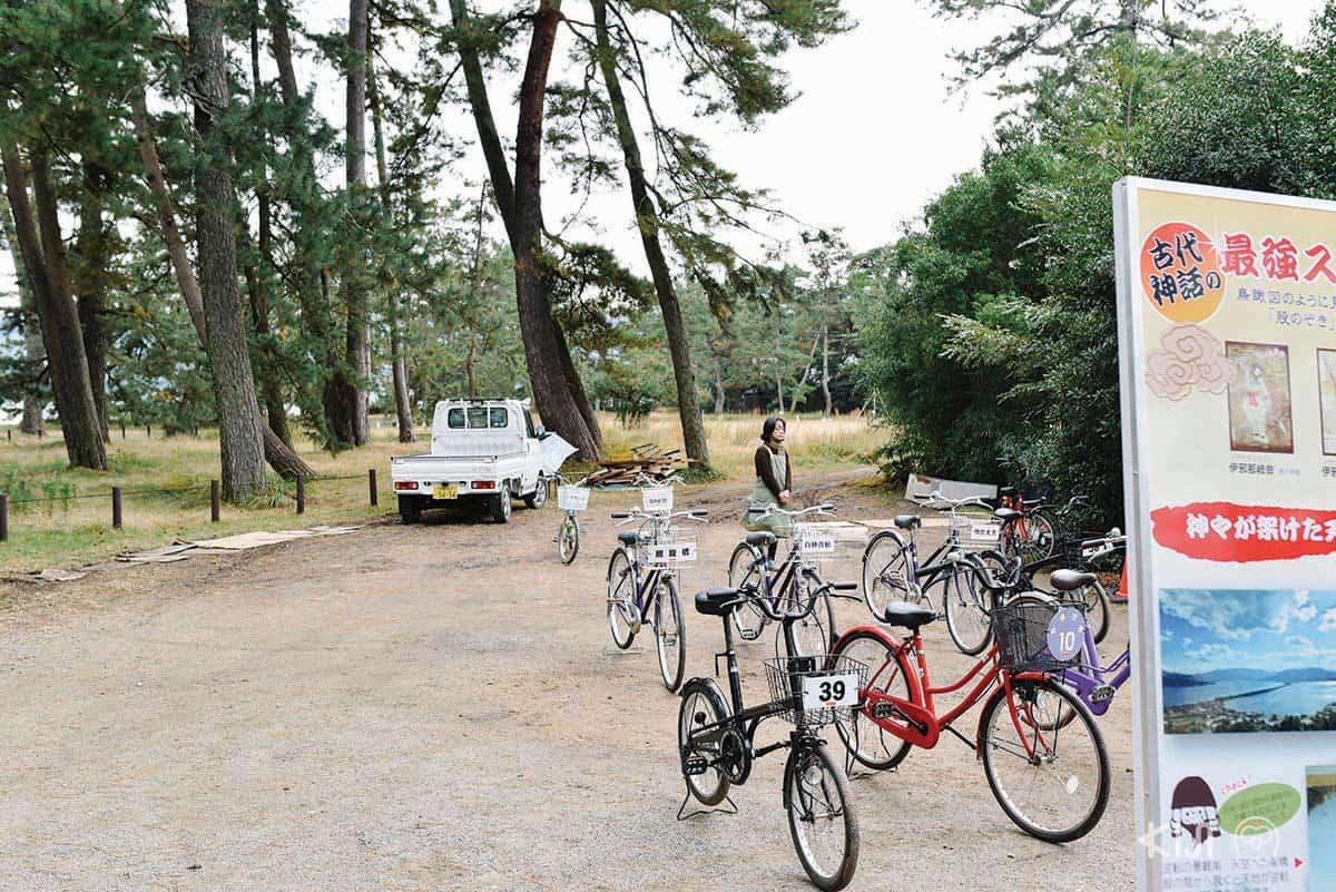 มีจักรยานให้เช่าที่อามาโนะฮาชิดาเตะ