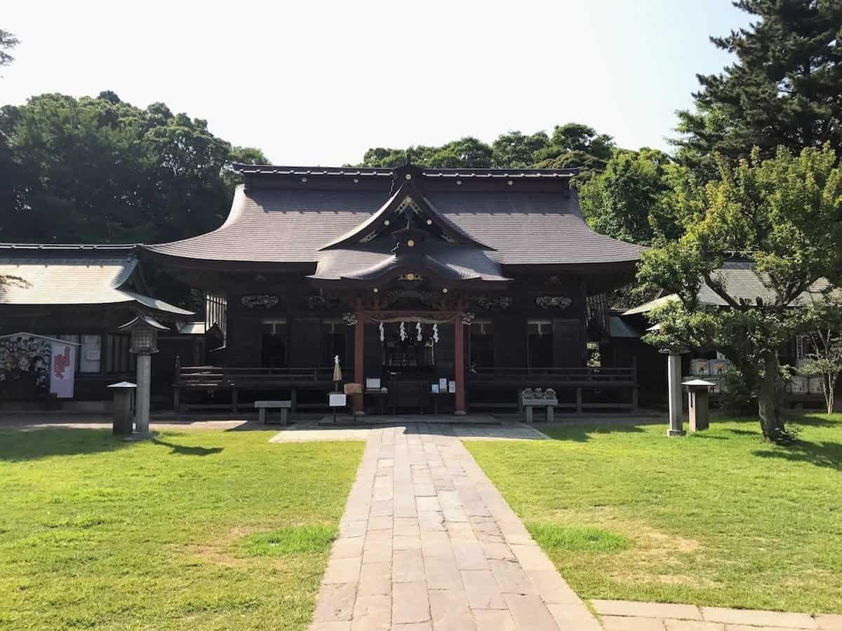 หอสักการะด้านในศาลเจ้าโออาไรอิโซซากิ (Oarai Isosaki Shrine)