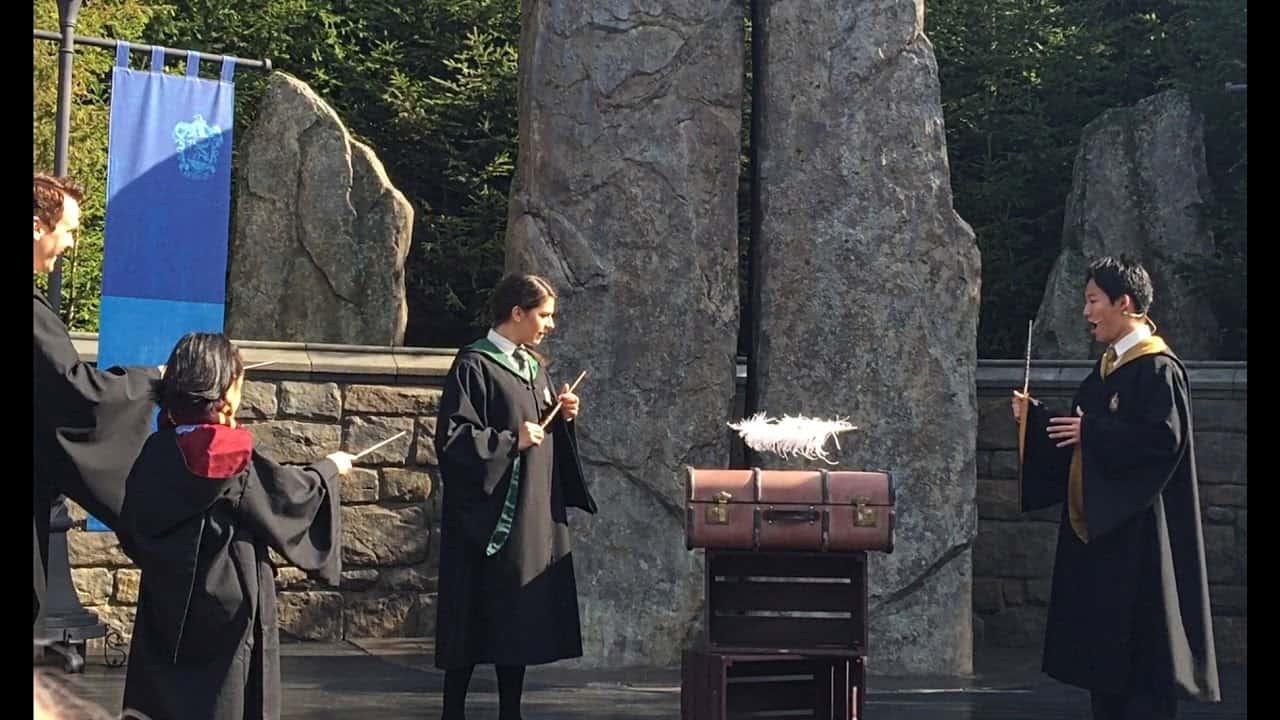 การแสดงโชว์ต่างๆ ที่โซน Harry Potter ใน USJ