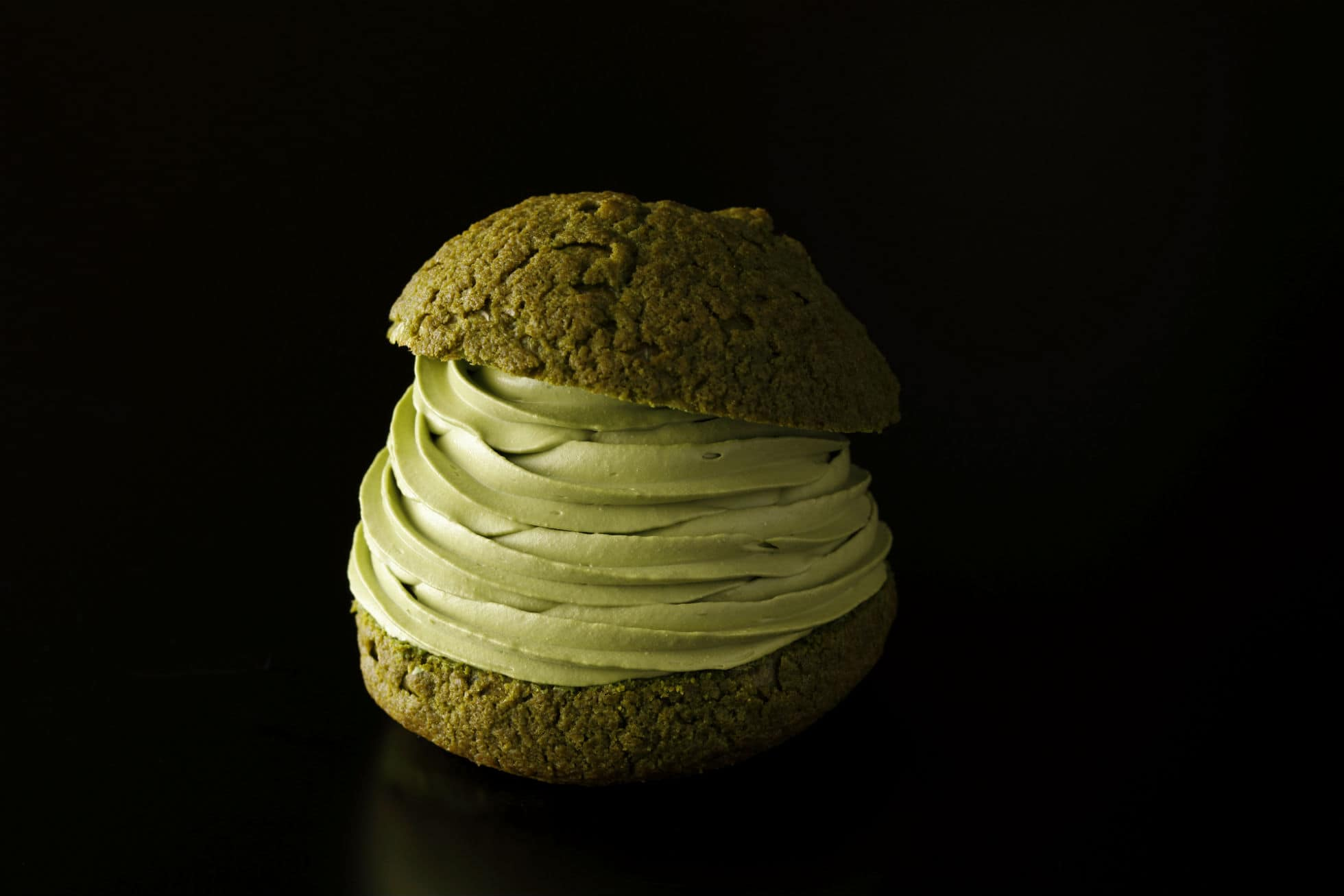 Shin Edo Matcha Shu Cream (1,000 เยน ไม่รวมภาษี)